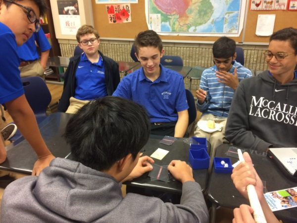 Students Play Chinese Champions Card Game In Chinese Class